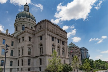 West side of the Indiana Statehouse